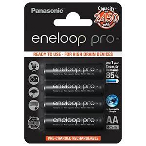 eneloop Pro, 4xAA, 2450 mAh PANASONIC BK-3HCDE/4BE