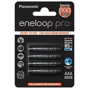 eneloop, NiMh Akku, AAA (Micro), 900 mAh, 4er-Pack PANASONIC BK-4HCDE/4BE