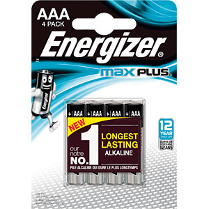 Max Plus, alkaline battery, AAA (Micro), 4-pack ENERGIZER