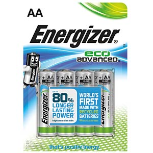 Energizer Eco Advanced Mignon, 4er-Pack ENERGIZER E300130700