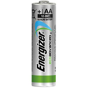 Eco Advanced, Alkaline Batterie, AA (Mignon), 4er-Pack ENERGIZER E300130700