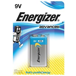 Energizer Advanced 9-V block, pack of one ENERGIZER E300116702
