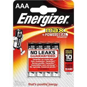 Energizer MAX Micro, pack of four ENERGIZER E300124203