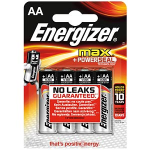 Energizer MAX Mignon, pack of four ENERGIZER E300112503