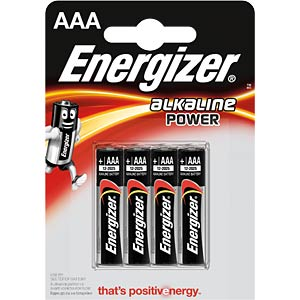 Energizer POWER Micro, pack of four ENERGIZER E300132604