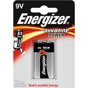 Power, Alkaline Batterie, 9-V-Block, 1er-Pack ENERGIZER E300127702