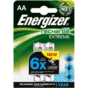 Energizer Extreme 2x AA rechargeable batteries, 2300 mAh ENERGIZER E300624500