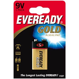 Eveready Gold, Alkaline Batterie, 9-V-Block, 1er-Pack ENERGIZER E300705601