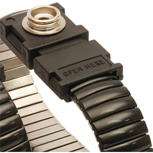 ESD metal wrist strap, M press-stud 10 mm STAT-X 0 910900 000006