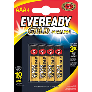 Gold, alkaline battery, AAA (Micro), 4-pack EVEREADY