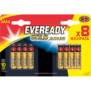 Gold, alkaline battery, AAA (micro), 8-pack EVEREADY