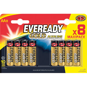 Gold, alkaline battery, AA (Mignon), 8-pack EVEREADY