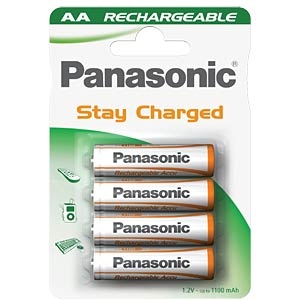 PANASONIC Stay Charged Accu's, 4xMignon, 1000mAh PANASONIC HHR-3LVE/4BC
