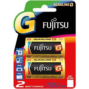 2-pack Fujitsu alkaline batteries, Baby, C FUJITSU LR14(2B)FU