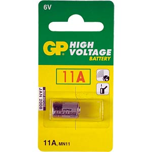 Alkaline battery, cylindrical, 6 V, 38 mAh GP-BATTERIES GP11A C1