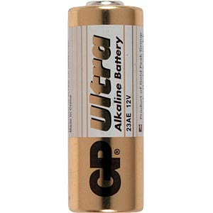 Alkaline battery, cylindrical, 12 V, 38 mAh GP-BATTERIES GP23A