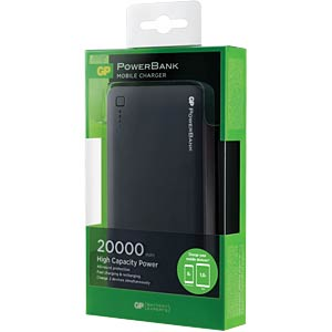 GP PowerBank 3C20A - zwart, 20 000 mAh GP-BATTERIES 1303C20ABLACK