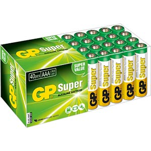 40er-Pack Batterien, Alkaline Micro, AAA GP-BATTERIES 03024AB40