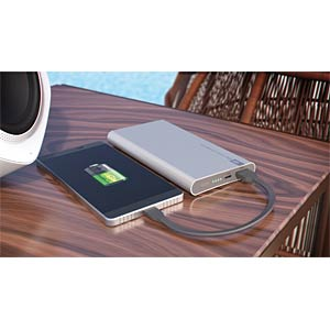 Powerbank, Li-Po, 5000 mAh, USB GP-BATTERIES 130FP05MSILVER