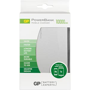 Portable PowerBank - FP10M Silver GP-BATTERIES 130FP10MSILVER