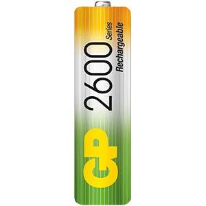GP NiMH batteries, AA, 4x2600 mAh GP-BATTERIES GPRHC272C123