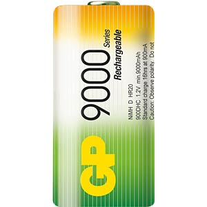 GP NiMH batteries, Mono D, 2x9000 mAh GP-BATTERIES GP 900DHCC2