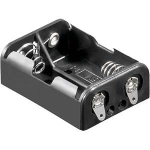 Batteriehalter für 2 Ladyzellen (LR1), Lötfahnen FREI