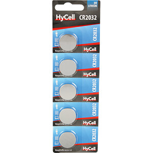 Lithium-Knopfzelle, 3 V, 20x3,2 mm, 5er-Pack HYCELL 1516-0105
