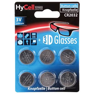 6x Ansmann HyCell knoopcel, 3 V, 20 x 3,2 mm HYCELL 1516-0026