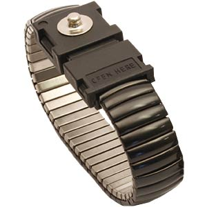 ESD metal wrist strap, press-stud 3 mm STAT-X 910900 000005