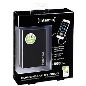 Powerbank, Softtouch, 10000 mAh, schwarz INTENSO 7333530