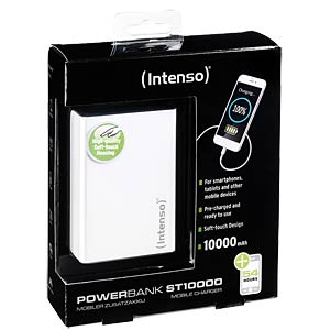 Powerbank, Softtouch, 10000 mAh, white INTENSO 7333532