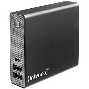 Powerbank, Softtouch, 13000 mAh, schwarz INTENSO 7333540