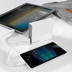Powerbank, Softtouch, 13000 mAh, weiß INTENSO 7333542