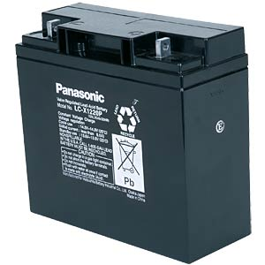 Maintenance-free rechargeable lead fleece battery, 20 Ah, 12 V PANASONIC LC-P1220P