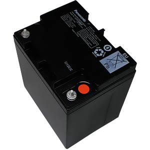 Maintenance-free rechargeable lead fleece battery, 28 Ah, 12 V PANASONIC LC-P1228AP