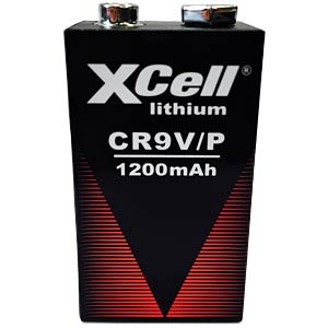 Lithium Batterie, 9-V-Block, 1200 mAh, 1er-Pack XCELL CR9V/P