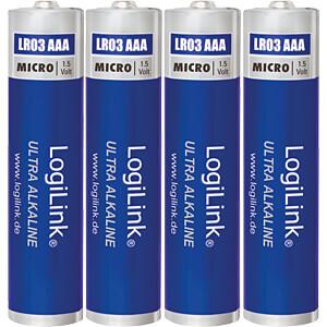 Alkaline Batterie, AAA (Micro), 4er-Pack LOGILINK LR03B4