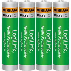 NiMh Akku, AAA (Micro), 1000 mAh, 4er-Pack LOGILINK LR03RB4