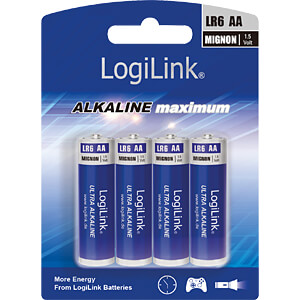 Alkalinebatterij, AAA (micro), pak van 4 LOGILINK LR6B4