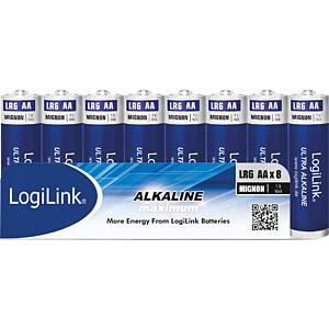 Alkalinebatterij, AAA (micro), pak van 8 LOGILINK LR6F8