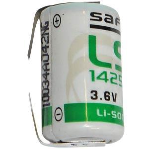 1/2AA lithium battery, 3.6 V, 1.2 Ah, solder lug SAFT LS-14250CNR