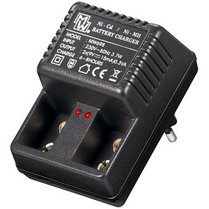 9 V charger Ni-Cd/Ni-Mh for 1 to 2 9 V blocks MINWA MW698