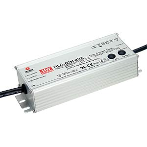 LED-Switching Power Supplies, HLG-60H, 15 VDC, 4 A MEANWELL HLG-60H-15A