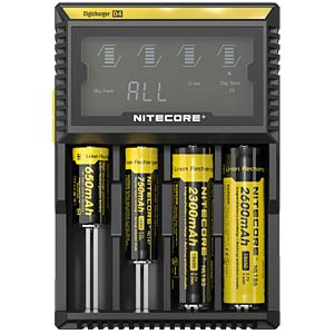Tischladegerät, prozessorgesteuert, NiCd, NiMh, Li-Ion, Li-Po NITECORE NC-D4EU