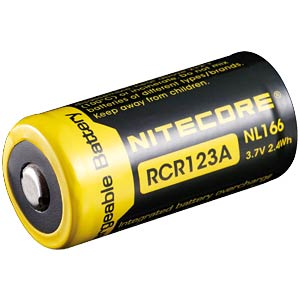 Nitecore Li-Ion 16340 cel met PCB, 650 mAh NITECORE NL166