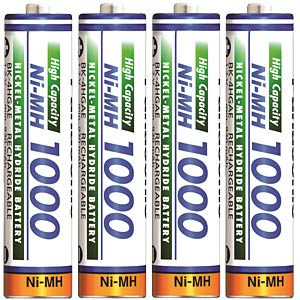 Panasonic Micro battery, NiMh, 1000 mAh, 4-pack PANASONIC HR4U