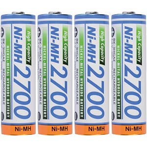 Mignon batteries, NiMh, 2700 mAh, 4-pack PANASONIC HR-3U