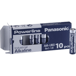 Alkalinebatterij, AAA (micro), pak van 10 PANASONIC LR03AD/10BB
