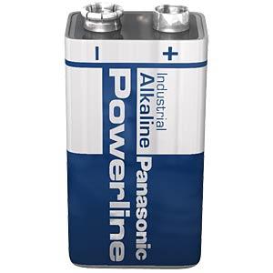 Alkaline Batterie, 9 Volt Block, 572mAh PANASONIC 6LR61AD